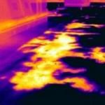 Flat roof thermal imaging leak detection