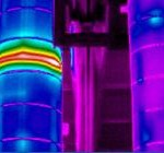 Industrial chimney thermal image